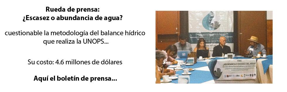 Rueda Prensa: Abundancia o escasez
