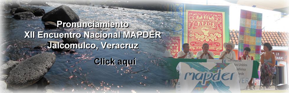 Declaración XII Encuentro MAPDER 2015